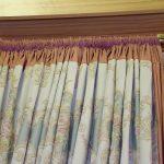 rideaux sur le cordon avec peigne