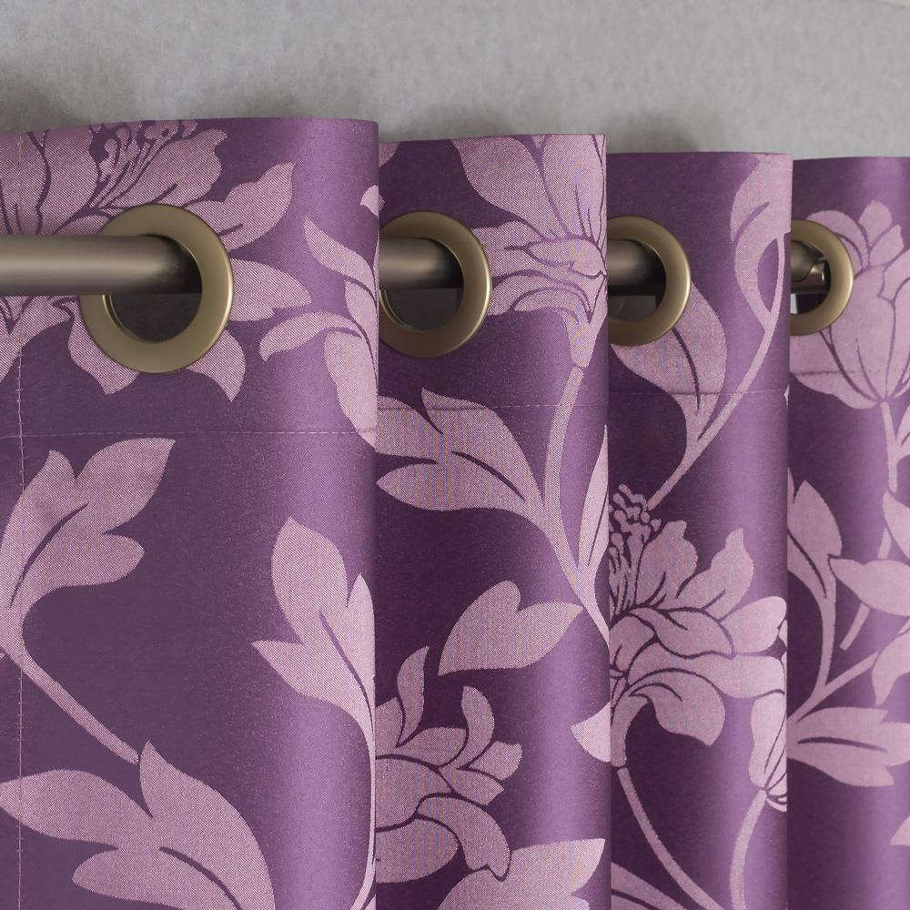 rideaux à oeillets violet