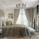 rideaux sur le ruban de rideau avec corniche cachée