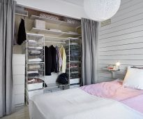 rideaux dans le vestiaire au lieu des idées de design de la porte