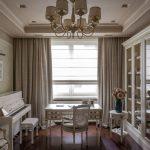 photo de plafond suspendu et de rideaux