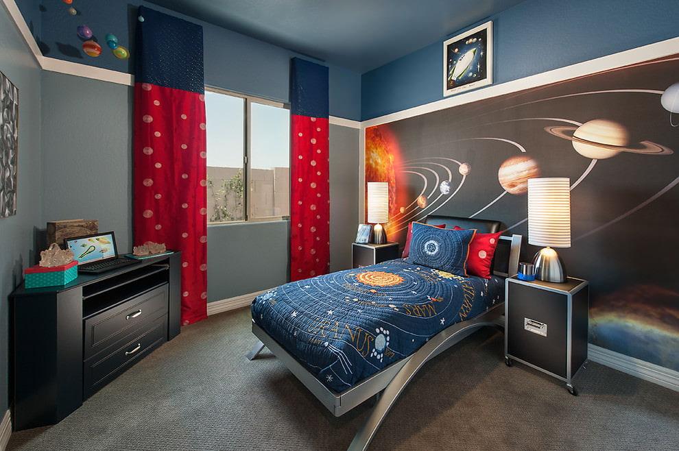 rideaux dans la chambre teen boy decor