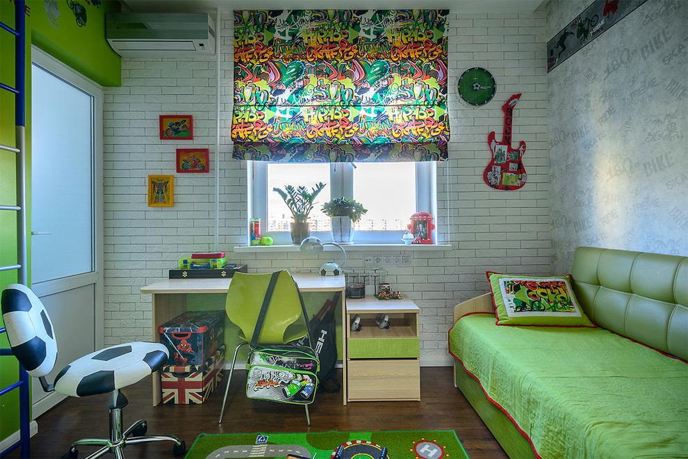 rideaux dans la chambre teen boy idees options