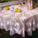 photo de conception de nappe au crochet