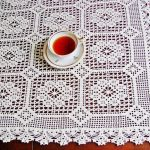 idées de décoration de nappe au crochet