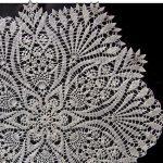 décoration de nappe au crochet