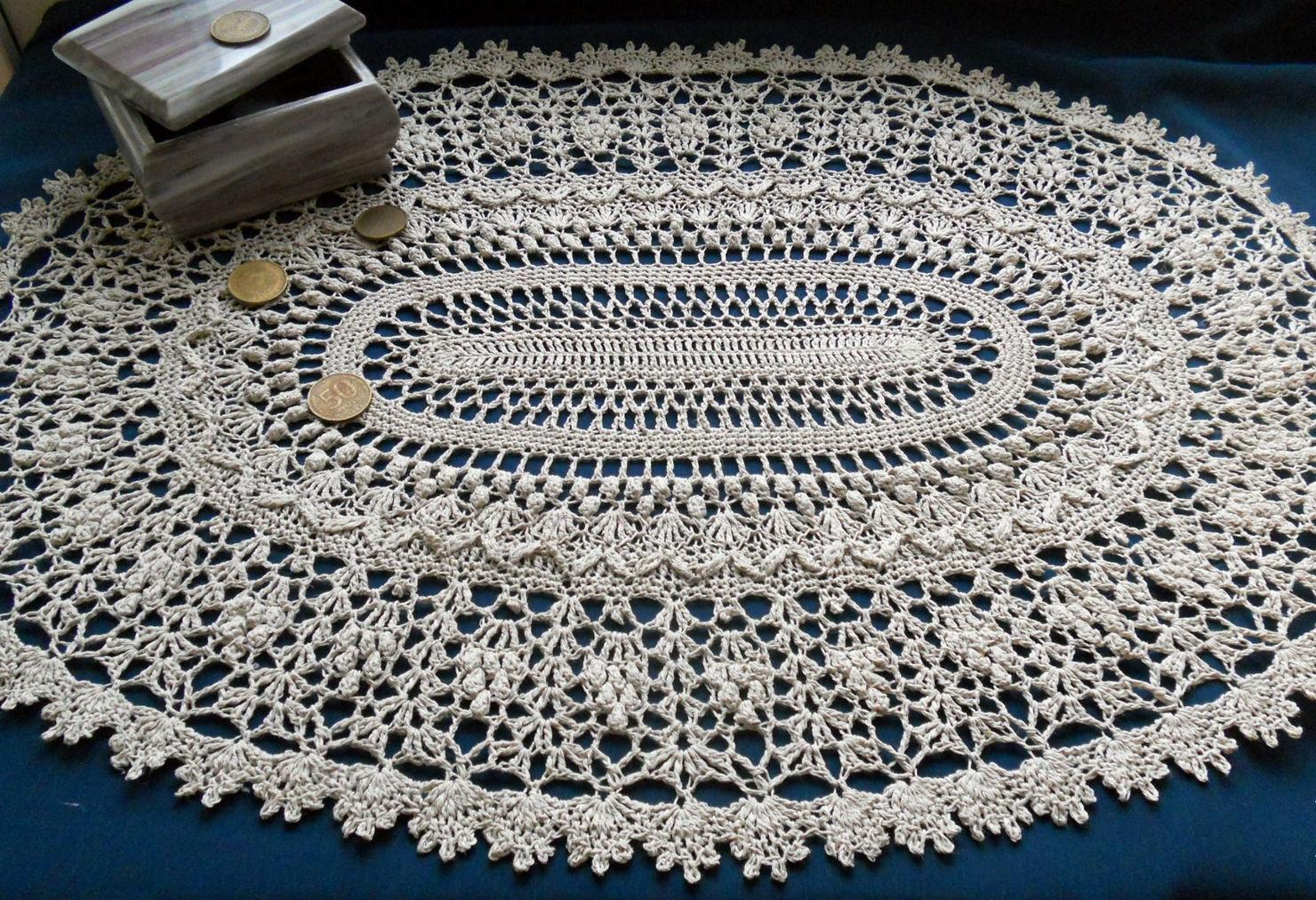 conception de photo de nappe de crochet