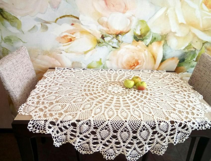 photos de conception de nappe au crochet