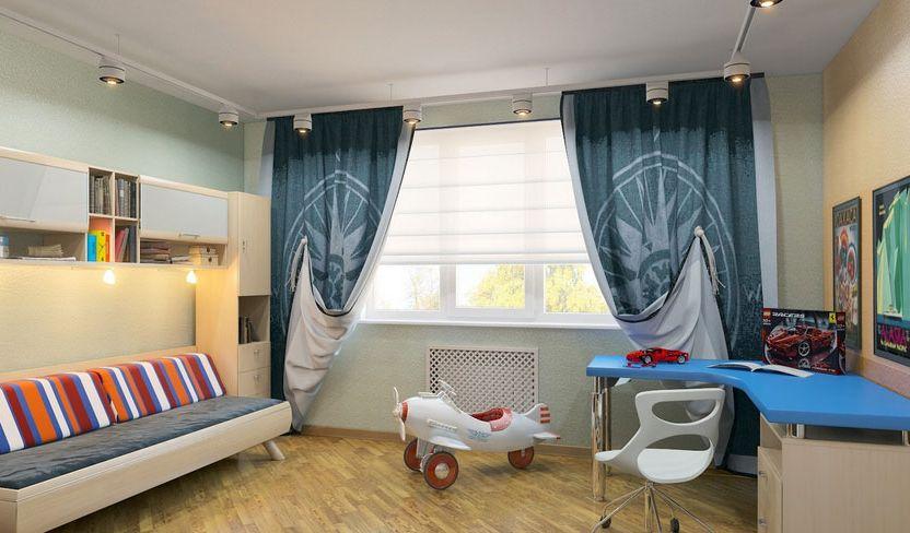 rideaux modernes dans la chambre adolescent garçon
