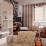 rideaux dans la chambre d'un garçon adolescent élégant