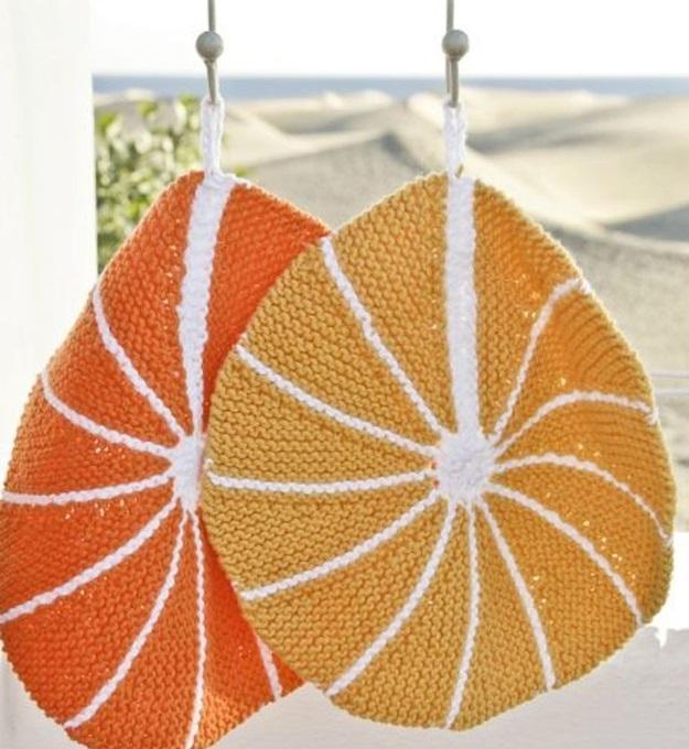 bord tricoté orange